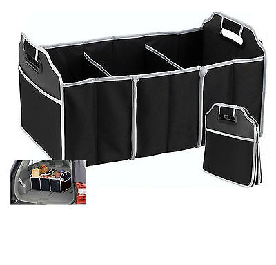 Collapsible Car Boot Tidy Trunk Organiser & Cooler 2-in-1 Heavy Duty Foldable
