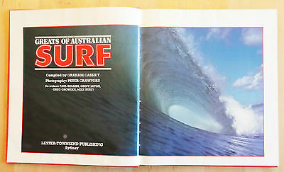 'greats Of Australian Surf' 1983 Graham Cassidy Peter Crawford Old Surfing Book