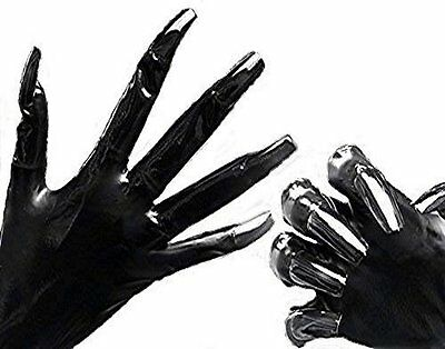 Gummi Latex Rubber Krallen Handschuhe Gloves schwarz Gr. large Top Markenware