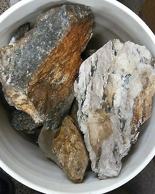 Gold/Silver/Copper Rock Ore Samples - Over 5 Pounds (LBs) Lot from Nevada Mine