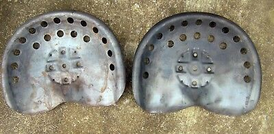 set of 2 Full Size Steel Universal Tractor Implement Seats -Antique Reproduction