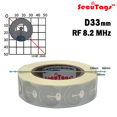 Eas Anti-Theft Security Checkpoint Round Soft Tag Rf 8.2Mhz 1000Pcs