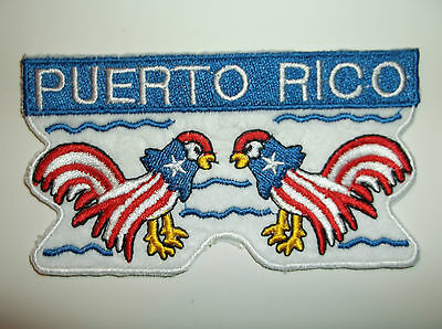 Puerto Rico Rican Flag Pride Patch ~Red White Blue~Embroidered~Hat~Cap~Sew~Iron