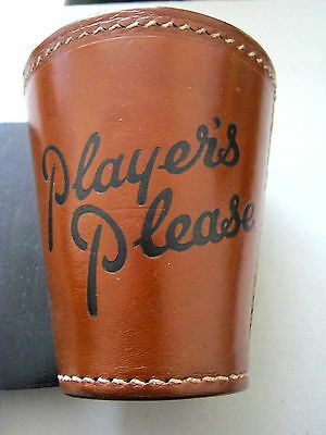 ANTIQUE LEATHER DICE CUP ADVERTISING PLAYERS CIGARETTES 1930s