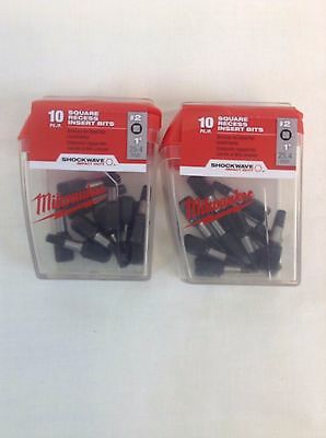 NEW Milwaukee 48-32-4607 Square Recess Insert Bits #2 (2 Pack)