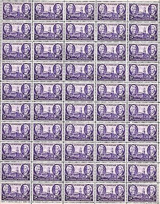 1946 - TENNESSEE - #941 Full Mint -MNH- Sheet of 50 Postage Stamps