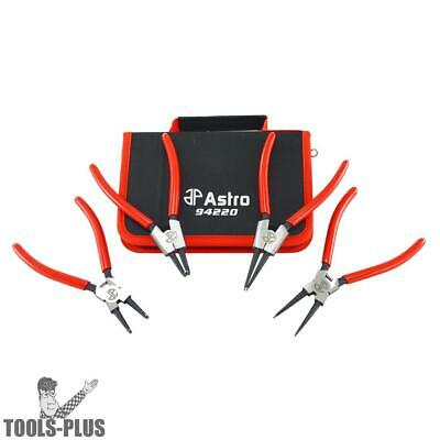 "Astro Pneumatic 7"" 4pc Internal / External Cr-V Snap Ring Pliers 94220 New"