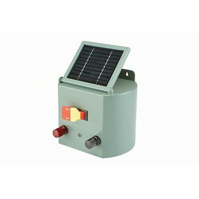 New SOLAR POWERED ELECTRIC FENCE CHARGER HORSE CATTLE (US Seller) Free Shipping