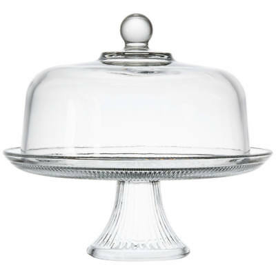 Anchor Hocking Canton Glass Cake Dome With Pedestal, Clear, 12 Inches
