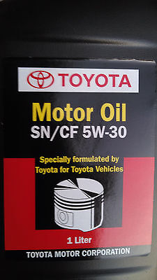 Genuine Toyota 5w30 SN/CF OEM Motor Oil 1 liter Part# 08880-83383