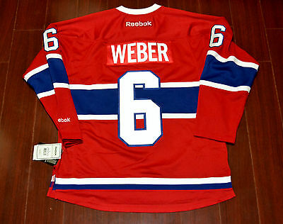 "Shea Weber Reebok Premier Montreal Canadiens Home Jersey With ""A"""