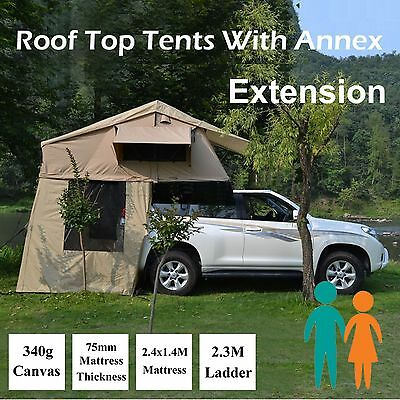 Rooftop Roof Top Tent 3.1x1.4M Camper Trailer 4WD 4X4 Camping Car Rack Annex