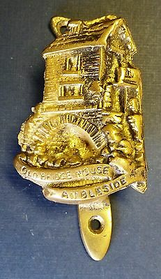 Vintage 'Old Bridge House' Brass Cottage Door Knocker from Ambleside, England