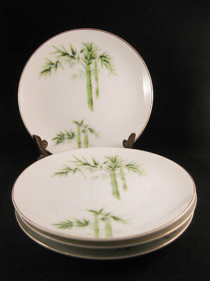 Orient China Bamboo Bread/Dessert Plates (5) Made In Japan