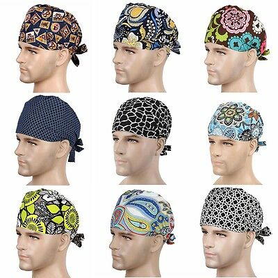 New 9 Kinds Men Doctor/Nurses Printing Scrub Cap Medical Surgical Surgery Hat