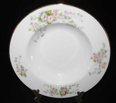 Occupied Japan Rose China Rimmed Soup Bowl Pattern #RO71