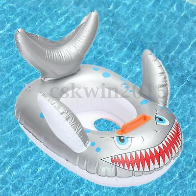 Inflatable Fish Swimming Pool Swim Seat Ring Ride On Boat Float for Kid Children