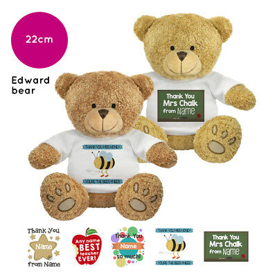 Personalised Name Thank You Edward Teddy Bear Gift Ideas Gifts for Teachers