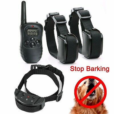 Stop Barking Anti-Bark Electric E-Collar Shock Training Remote Controller
