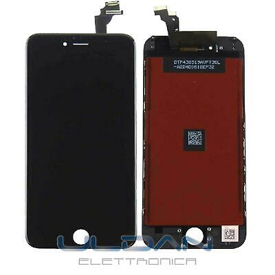 Touch Screen Lcd Display Retina Frame Per Apple Iphone 6 Plus Vetro Schermo Nero