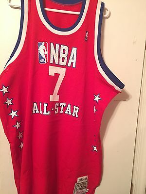 uk availability 291e7 cdae2 AUTHENTIC MITCHELL AND Ness Karl Malone All Star Jersey SZ 54