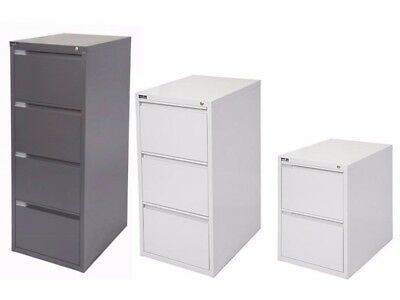 Rapidline Filing Cabinet 5 Year Warranty 3 Colours, 2, 3 or 4 Drawer, ASSEMBLED