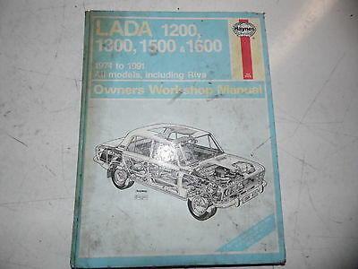 Lada 1200, 1300, 1500 and 1600 1974 to 1991 All Models Owner's Workshop manual