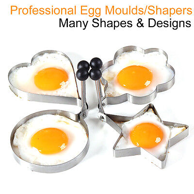 Fried Egg Molds Moulds Poached Shaper Tool Frying Pan Childrens Utensil Cooking