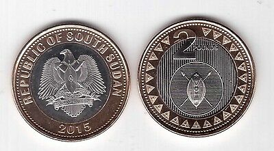 South Sudan – New Issue Bimetal 2 Pounds Unc Coin 2015 Year Arm