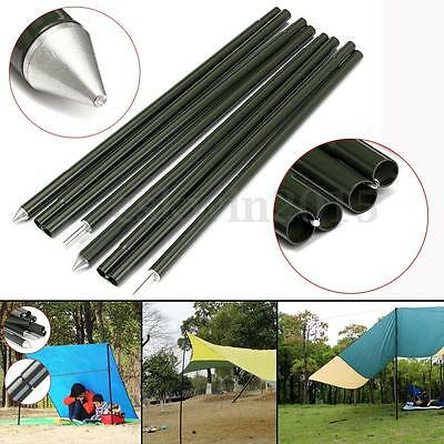 2x2m Camping Awning Aluminium Rod Outdoor Tent Support Rod Sun Shelter Poles Set