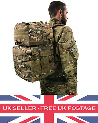 40 Litre MTP Multicam Army MOLLE Rucksack Cadet Camo Military Day Sack Bag Pack
