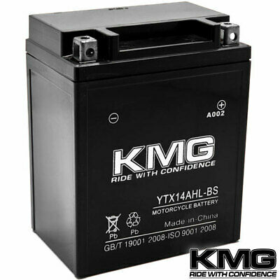 High Performance 12V SMF Battery NEW Replacement YTX14AHL-BS Maintenance Free