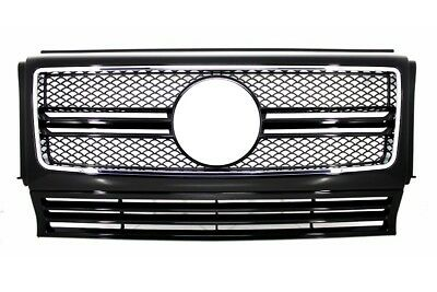 Mercedes G-Class W463 90-12 Front Grille G63 AMG Look Grill Mesh Black Grill