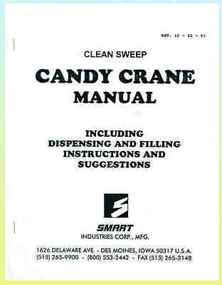 Clean Sweep, 1993 SMART INDUSTRIES  CANDY CRANE MANUAL