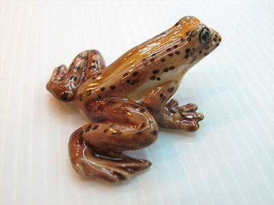 Porcelain Miniatures Collectible Ceramic Souther Gastric Brooding Frog FIGURINE