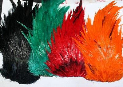 Fly Tying Dyed Saddle Capes Lure Hackles 4 colours