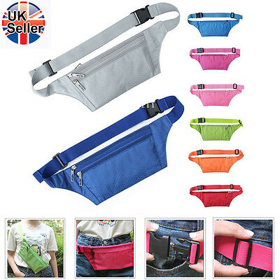 Waterproof Bum Bags Fanny Packs Sports Travel Holiday Money Security Waist Pouch