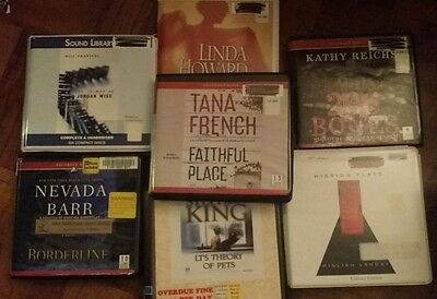 Huge Lot 7 Audiobooks CD Detective Mystery Thriller Suspense Fiction Unabridged
