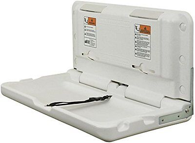 ECR4Kids Horizontal Commercial Baby Changing Station, White Granite