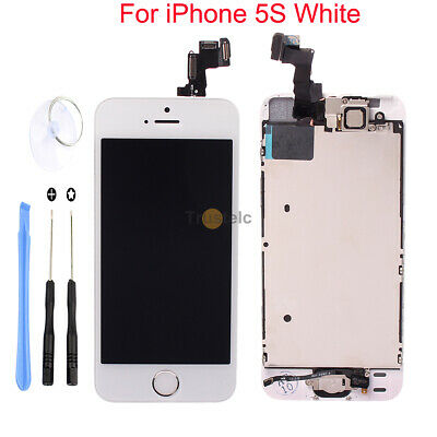 White LCD Display +Touch Screen Digitizer Assembly Replacement for iPhone 5S OEM