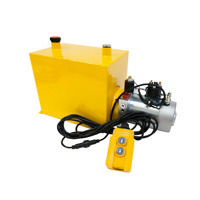 12 Volt Hydraulic Pump Single Acting 15qt