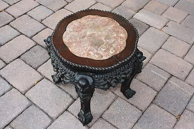 Marble Inset Wooden Oriental Stand 406