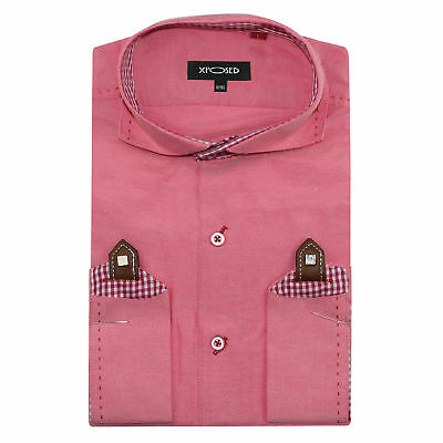 Mens Dusty Pink Smart Casual Slim Fit Long Sleeve Italian Designer Style Shirt