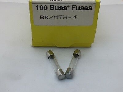 4A T4A 250Vac PCB Mount Radial Lead Fuse Subminature SS-5 Slow Blow Bussmann