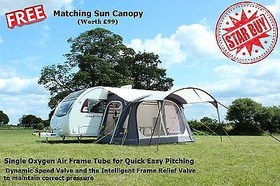 Outdoor Revolution Speed X1 Inflatable Caravan Awning - FREE Matching Canopy