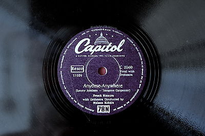 Frank Sinatra: Anytime-Anywhere+From Here To Eternity,  Schellackplatte 25 cm 78