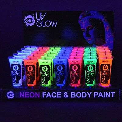 UV Glow Blacklight Neon Face And Body Paint - 0.34oz Case Of 24