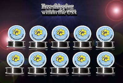(10pcs)100ft Roll of Each Gauge 22,24,26,28,30,32,34,36,38,40 - Nichrome 80 Wire
