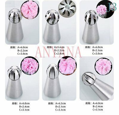 Sphere Ball Shape Stainless Steel Russian Icing Piping Nozzle Pastry Cupcake Tip