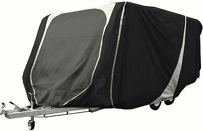 Leisurewize Caravan Cover 17 to 19ft Heavy Duty Breathable Charcoal/Grey 3 ply